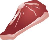 Bife de carne cru ilustração royalty free