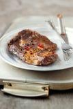 Bife de carne fritado foto de stock royalty free