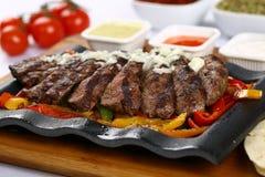 Bife de carne grelhado fresco fotografia de stock