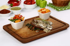 Bife de carne grelhado fresco foto de stock royalty free