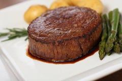 Bife de carne suculento Imagem de Stock