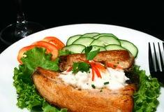 Bife de peixes Fotografia de Stock