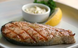 Bife de peixes Foto de Stock Royalty Free