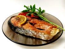 Bife de peixes fritado Imagem de Stock Royalty Free
