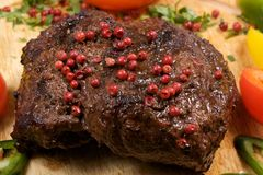 Bife de pimenta Fotografia de Stock