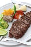 Bife de saia grelhado, culinária mexicana fotografia de stock royalty free
