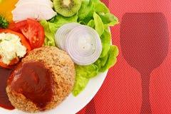 Bife de Salisbúria delicioso fotos de stock royalty free