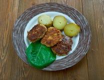 Bife de Salisbúria finlandês imagens de stock