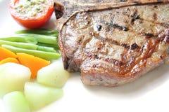 Bife de T-bone Imagens de Stock