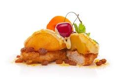 Bife de Turquia com fruta cozida Foto de Stock