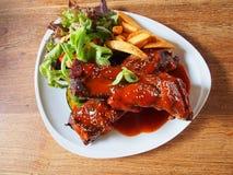 Bife do assado do rasgo da carne de porco Imagem de Stock Royalty Free