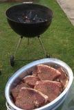 Bife do BBQ Fotografia de Stock Royalty Free