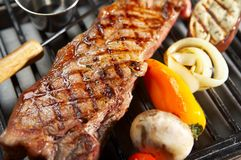 Bife do BBQ Foto de Stock Royalty Free