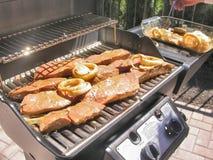 Bife do BBQ fotografia de stock