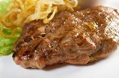 Bife do lombo grelhado imagem de stock