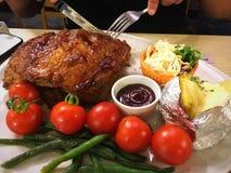 Bife do rasgo da carne de porco foto de stock royalty free