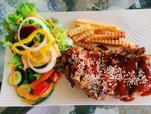 Bife dos reforços de carne de porco Foto de Stock Royalty Free