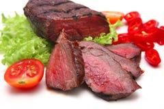 Bife e vegetais de carne Foto de Stock