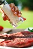 Bife fresco e muito saboroso Imagens de Stock