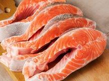 Bife fresco Salmon Imagem de Stock Royalty Free