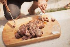 Bife grelhado Imagem de Stock Royalty Free