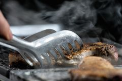 Bife grelhado da carne fotografia de stock