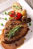 Bife grelhado da carne fotografia de stock royalty free