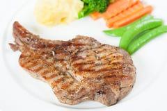 Bife grelhado da carne de porco imagem de stock