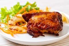 bife grelhado da galinha com vegetal foto de stock royalty free