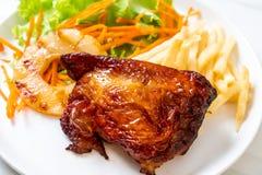 bife grelhado da galinha com vegetal imagens de stock royalty free