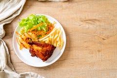 bife grelhado da galinha com vegetal imagem de stock royalty free