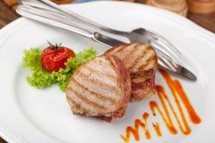 Bife grelhado do BBQ imagens de stock royalty free
