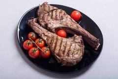 Bife grelhado do machado de guerra da carne imagens de stock royalty free