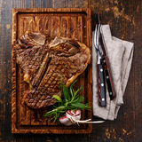 Bife grelhado do T-bone foto de stock