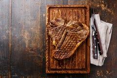 Bife grelhado do T-bone Fotos de Stock Royalty Free