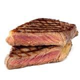 Bife grelhado isolado no branco Imagem de Stock