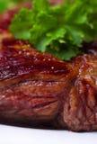 Bife grelhado no close-up Fotografia de Stock Royalty Free