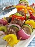 Bife Kebabs Fotografia de Stock