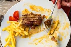 Bife para o almoço Fotografia de Stock
