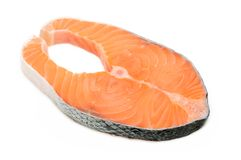 Bife Salmon Foto de Stock Royalty Free