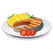 Bife Salmon Fotos de Stock
