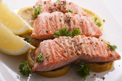 Bife Salmon Fotos de Stock Royalty Free