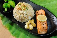 Bife Salmon com pimenta preta fotografia de stock royalty free