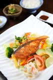 Bife Salmon com vegetal Fotografia de Stock