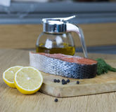 Bife Salmon Imagens de Stock Royalty Free