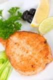Bife salmon grelhado Fotos de Stock Royalty Free