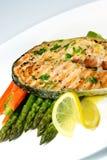 Bife Salmon grelhado Foto de Stock Royalty Free