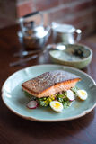 Bife Salmon no estilo tailandês Fotografia de Stock Royalty Free