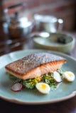 Bife Salmon no estilo tailandês Fotos de Stock