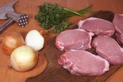 Bifes da carne Fotos de Stock Royalty Free
